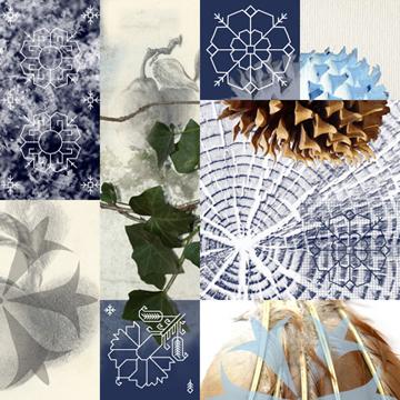 Sampler: Winter Blackwork 1 by Anne Chesnut