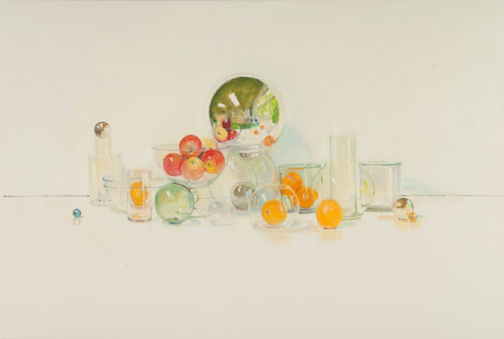 David Summers' Happy Still Life with Five Apples and Five Oranges