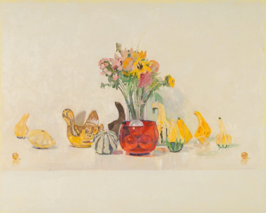 David Summers' Happy Still Life with Gourds and Swans